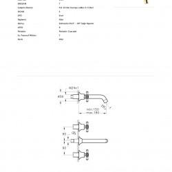 Artema Juno Crystals From Swarovski A4169423 Ankastre Lavabo Bataryası